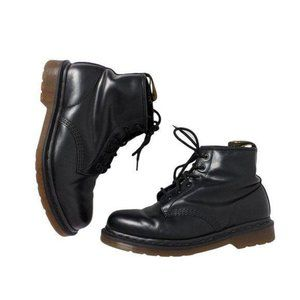 Dr. Martens 101 6 Eye Boot Black Leather Size 10